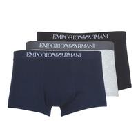 Roupa de interior Homem Boxer Emporio Armani CC722-111610-94235 Marinho / Cinza / Preto