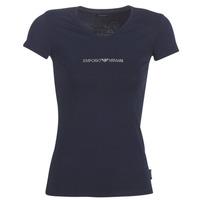 Textil Mulher T-Shirt mangas curtas Emporio Armani CC317-163321-00135 Marinho