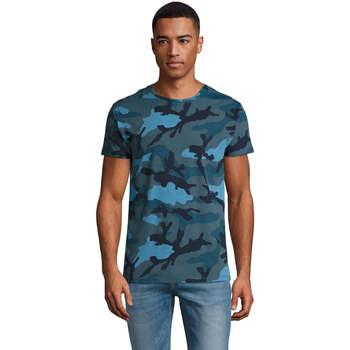 Textil Homem T-Shirt mangas curtas Sols CAMO MEN Multicolor