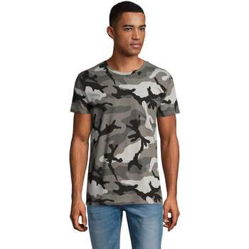 Textil Homem T-Shirt mangas curtas Sols CAMOUFLAGE DESIGN MEN Gris