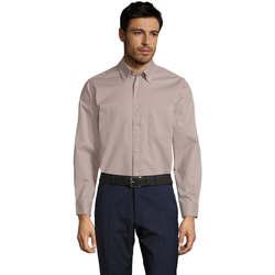 Textil Homem Camisas mangas comprida Sols BEL-AIR Beige
