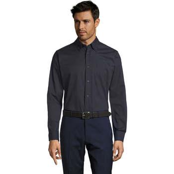 Textil Homem Camisas mangas comprida Sols BEL-AIR TWILL MEN Azul