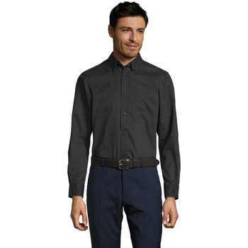 Textil Homem Camisas mangas comprida Sols BEL-AIR TWILL MEN Negro