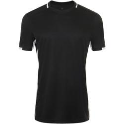 Textil Homem T-Shirt mangas curtas Sols CLASSICO SPORT Negro