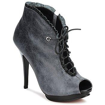 Sapatos Mulher Botas baixas Carmen Steffens 6002043001 Preto / Cinza