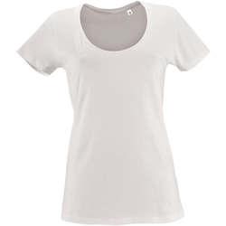 Textil Mulher T-Shirt mangas curtas Sols METROPOLITAN CITY GIRL Blanco