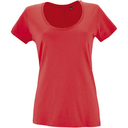 Textil Mulher T-Shirt mangas curtas Sols METROPOLITAN CITY GIRL Rojo
