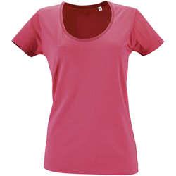 Textil Mulher T-Shirt mangas curtas Sols METROPOLITAN CITY GIRL Rosa