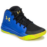 Sapatos Criança Sapatilhas de basquetebol Under Armour GS JET 2019 Azul / Amarelo