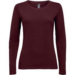 Textil Mulher T-shirt mangas compridas Sols MAJESTIC violeta