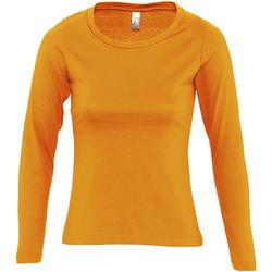 Textil Mulher T-shirt mangas compridas Sols MAJESTIC COLORS GIRL Naranja