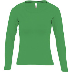 Textil Mulher T-shirt mangas compridas Sols MAJESTIC Verde