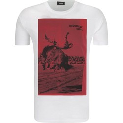 Textil Homem T-Shirt mangas curtas Dsquared S71GD0712 Branco