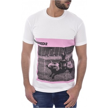 Textil Homem T-Shirt mangas curtas Dsquared S71GD0713 Branco