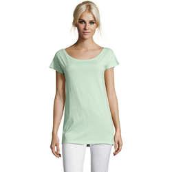 Textil Mulher T-Shirt mangas curtas Sols MARYLIN STYLE KIMONO Verde
