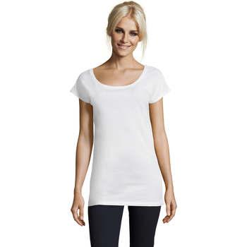 Textil Mulher T-Shirt mangas curtas Sols MARYLIN Blanco