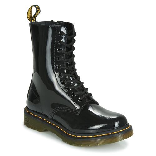 Sapatos Mulher Botas baixas Dr Martens 1490 PATENT LAMPER Preto