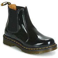 Sapatos Mulher Botas baixas Dr Martens 2976 PATENT LAMPER Preto