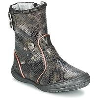 Sapatos Rapariga Botas Catimini CLABAUD Bronze / Preto