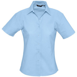 Textil Mulher camisas Sols ELITE OXFORD Azul