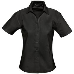 Textil Mulher camisas Sols ELITE OXFORD Negro