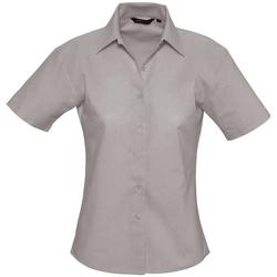 Textil Mulher camisas Sols ELITE OXFORD Plata