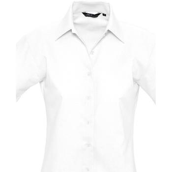Textil Mulher camisas Sols ELITE OXFORD Blanco
