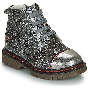 Sapatos Rapariga Botas baixas GBB NEVA Cinza / Metalizado