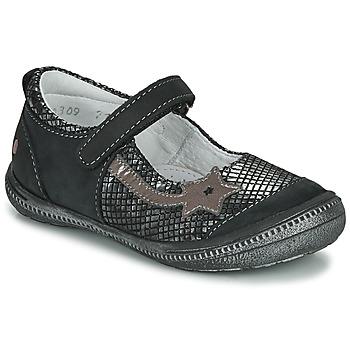 Sapatos Rapariga Sabrinas GBB NYOKO Preto / Prata
