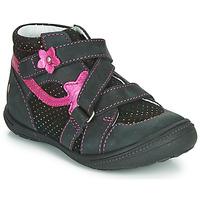 Sapatos Rapariga Botas baixas GBB NINA Preto / Rosa