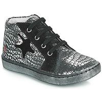 Sapatos Rapariga Sapatilhas de cano-alto GBB LETO Preto / Prata