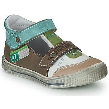Sapatos Rapaz Sandálias GBB PEPINO Castanho / Bege / Verde