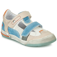 Sapatos Rapaz Sapatilhas GBB PRINCE Branco / Bege / Azul