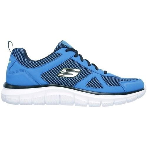 Sapatos Homem Sapatilhas Skechers Track Azul
