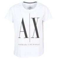 Textil Mulher T-Shirt mangas curtas Armani Exchange 8NYTCX-YJG3Z-5102 Branco
