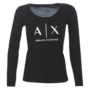 Textil Mulher T-shirt mangas compridas Armani Exchange 8NYTDG-YJ16Z-1200 Preto