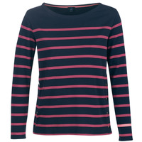Textil Mulher T-shirt mangas compridas Armor Lux BRIAN Marinho / Rosa