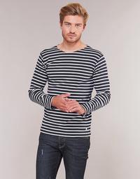 Textil Homem T-shirt mangas compridas Armor Lux VERMO Marinho / Branco