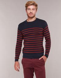 Textil Homem camisolas Armor Lux LEOPOLD Marinho / Vermelho
