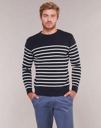 Textil Homem camisolas Armor Lux MARIO Marinho / Branco