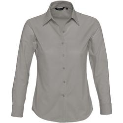 Textil Mulher camisas Sols EMBASSY OXFORD GIRL Plata