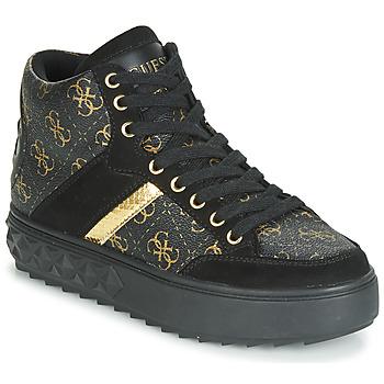 Sapatos Mulher Sapatilhas de cano-alto Guess FIXIN Preto