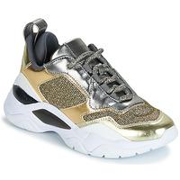 Sapatos Mulher Sapatilhas Guess FURNER Prateado / Dourado