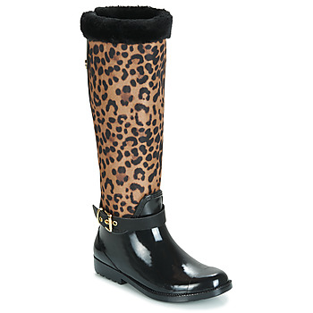 Sapatos Mulher Botas de borracha Guess CICELY Preto / Leopardo
