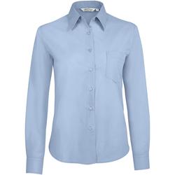 Textil Mulher camisas Sols EXECUTIVE Azul