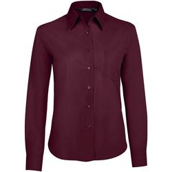 Textil Mulher camisas Sols EXECUTIVE POPELIN WORK violeta
