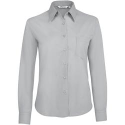 Textil Mulher camisas Sols EXECUTIVE POPELIN WORK Gris