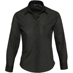 Textil Mulher camisas Sols EXECUTIVE POPELIN WORK Negro