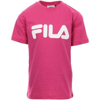 Textil Rapariga T-Shirt mangas curtas Fila Kids Classic Logo Tee Rosa