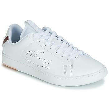 2dad1162fa7 Sapatos Mulher Sapatilhas Lacoste CARNABY EVO LIGHT-WT 119 3 Branco   Rosa